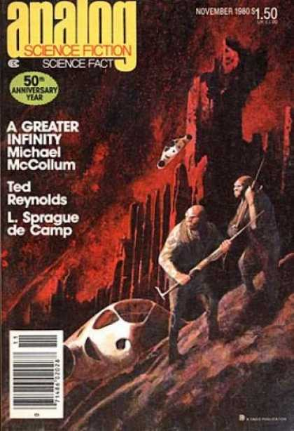 Astounding Stories 600 - A Greater Infinity - 50th Anniversary - Reynolds - November 1980 - Mccollum