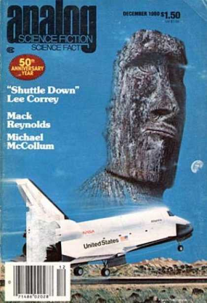 Astounding Stories 601 - Shuttle Down - December 1980 - Space Shuttle - United States - 50th Anniversary Year