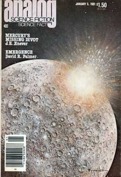 Astounding Stories 602 - Emergence - January 1981 - Mercurys Missing Divot - Lunarscape - Palmer