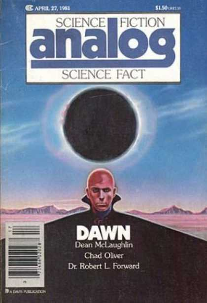 Astounding Stories 606 - April 1981 - Dawn - Dean Mclaughlin - Chad Oliver - Dr Robert L Forward