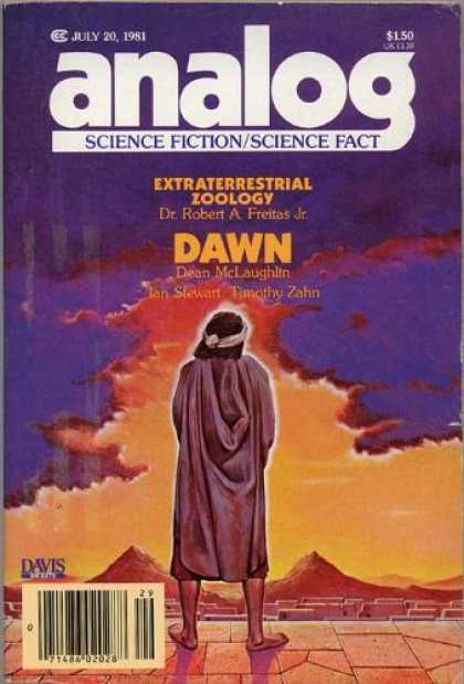 Astounding Stories 609 - Extraterrestrial Zoology - July 1981 - Clouds - Moutains - Man