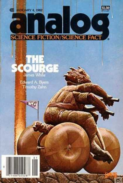 Astounding Stories 615 - January 1982 - The Scourge - White - Byers - Tricycle Creature