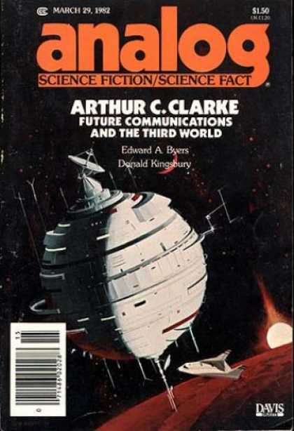 Astounding Stories 618 - Future Communications - Arthur Clarke - Byers - March 1982 - Space Orb