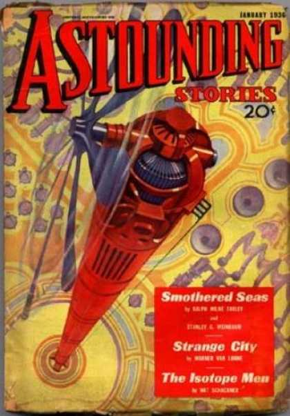 Astounding Stories 62 - Propellers - Red Tower - Wind Power - Red Machine - Strange Device