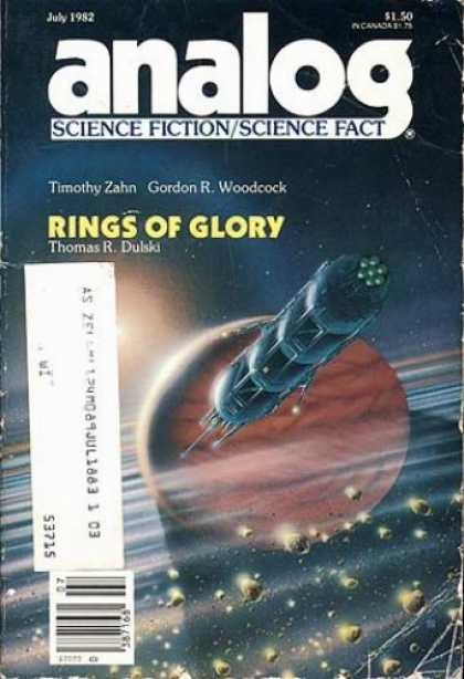 Astounding Stories 621 - Rings Of Glory - July 1982 - Space Craft - Planet - Rings