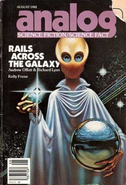 Astounding Stories 622 - Alien - Space - Rails Across The Galaxy - August 1982 - Andrew Offutt