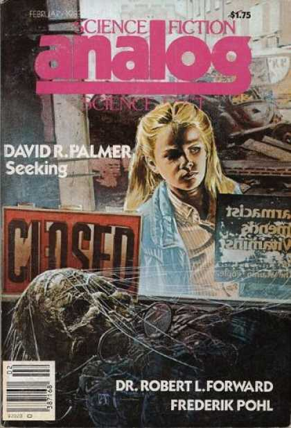 Astounding Stories 629 - Seeking - February 1983 - Young Girl - Corpse - Spider Web