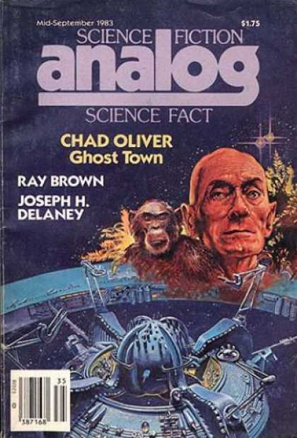Astounding Stories 637 - Mid-september 1983 - Ghost Town - Ray Brown - Joseph H Delaney - Monkey
