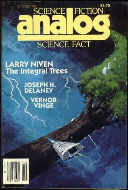 Astounding Stories 638 - Larry Niven - The Integral Trees - Joseph H Delaney - October 1983 - Vernor Vinge
