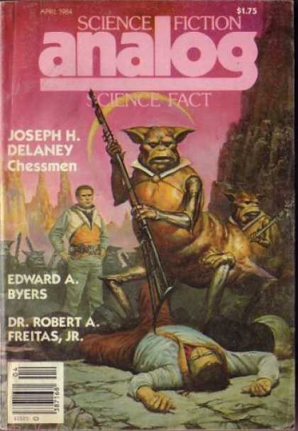 Astounding Stories 644 - Chessmen - April 1984 - Space Creature - Staff - Human