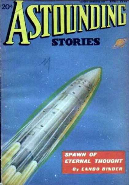 Astounding Stories 65 - Spawn Of Eternal Thought - April 1938 - Shuttle - Planet - Launch