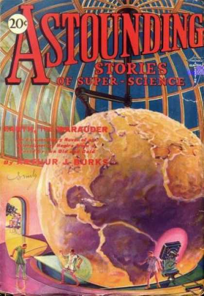 Astounding Stories 7 - Laboratory - Earth - Dome - Humans - Beams