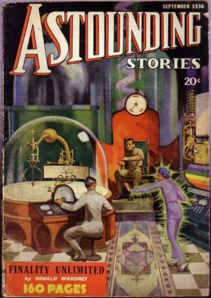 Astounding Stories 70 - Laboratory - September 1936 - 20 Cents - Finality Unlimited - Donald Wandrei