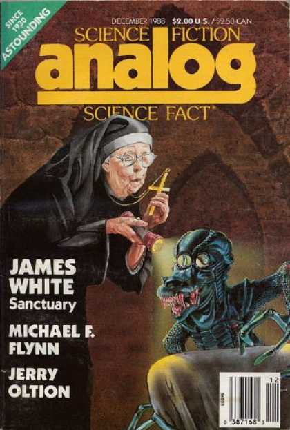 Astounding Stories 704 - Nun - James White Sanctuary - December 1988 - Alein - Cross