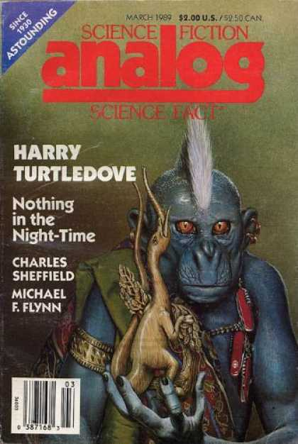 Astounding Stories 708 - March 1989 - Nothing In The Night-time - Monkey - Creatures - Elephant