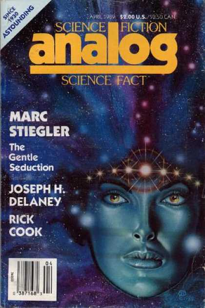 Astounding Stories 709 - The Gentle Seduction - April 1989 - Girls Face - Galaxy - Space