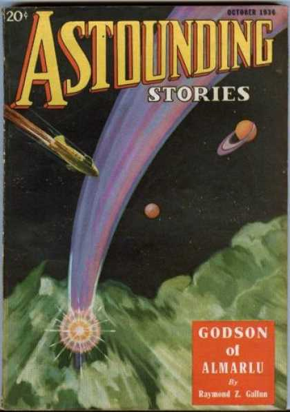 Astounding Stories 71 - Godson Of Almarlu - October 1936 - Shuttle - Planet - Rings