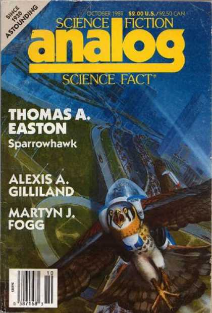 Astounding Stories 715 - Sparrowhawk - October 1989 - Bird - Space - Space Craft