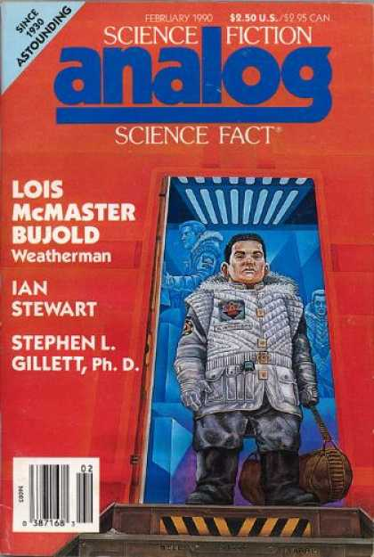 Astounding Stories 720 - February 1990 - Weatherman - Lois Mcmaster Bujold - Ian Stewart - Stephen L Gillet