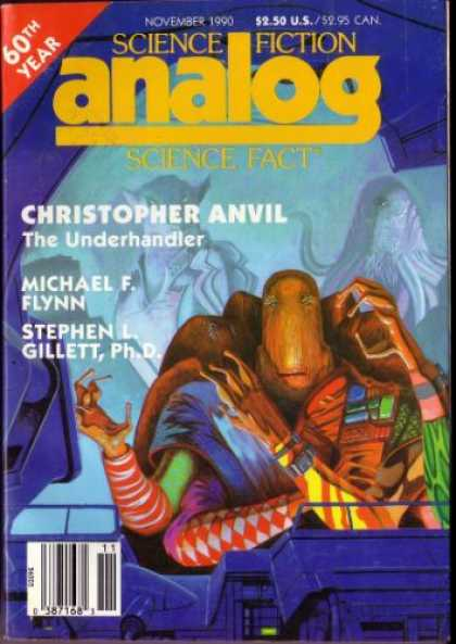 Astounding Stories 729 - 60th Year - The Underhandler - Micheal F Flynn - Alien - November 1990