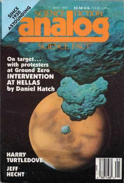 Astounding Stories 736 - Intervention At Hellas - Hatch - May 1991 - Meteors - Planet