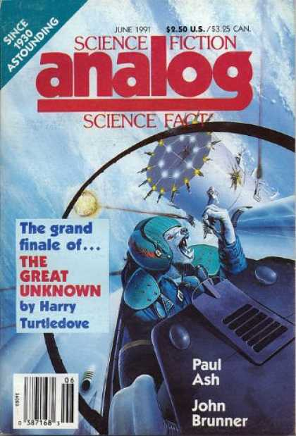 Astounding Stories 737 - Turtledove - June 1991 - The Great Unknown - Dog Astronaut - Spacecraft