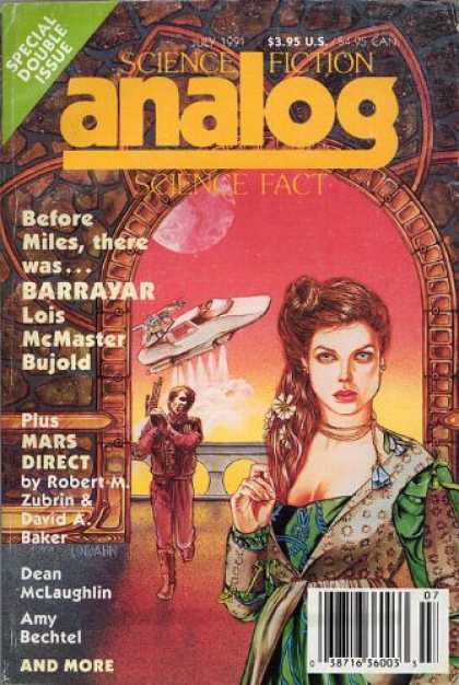 Astounding Stories 738 - Barrayar - Pink Orb - July 1991 - Bujold - Mars Direct