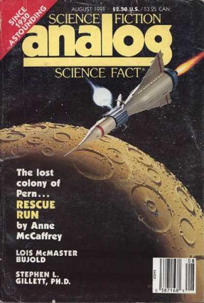 Astounding Stories 739 - August 1991 - Rocket - Anne Mccaffrey - Rescue Run - Lois Bujold