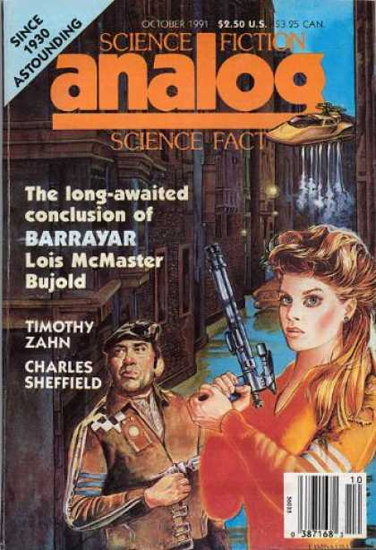 Astounding Stories 741 - Barrayar - Lois Mcmaster Bujold - October 1991 - Timothy Zahn - Charles Sheffield