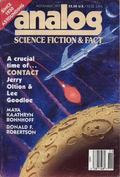 Astounding Stories 742 - November 1991 - Contact - Jerry Oltion - Lee Goodloe - Donald F Robertson