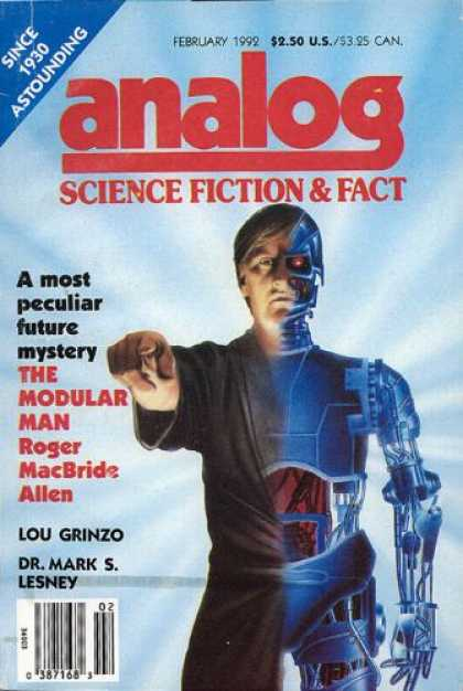 Astounding Stories 746 - The Modular Man - February 1992 - Humanoid - Robot - Man