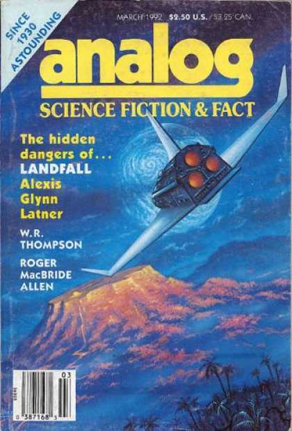 Astounding Stories 747 - March 1992 - The Hidden Dangers Of Landfall - Planet - Space - Space Craft