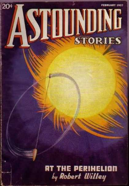 Astounding Stories 75 - Sun - Flare - Sphere - Ship - Space
