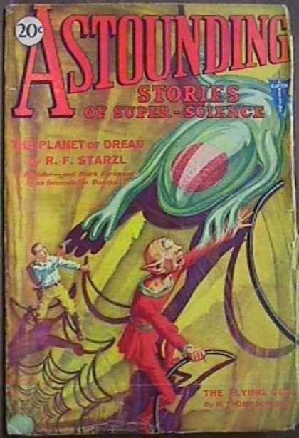 Astounding Stories 8 - The Planet Of Dread - Alien - Creatures - Spiderweb - Cave