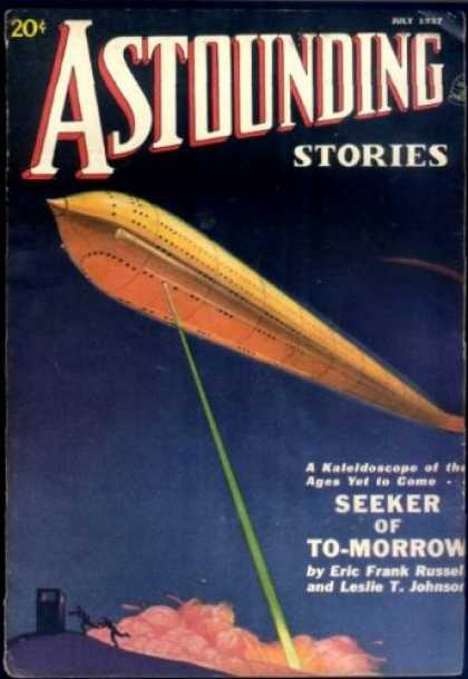 Astounding Stories 80 - July 1957 - Seeker Of To-morrow - Green Beam - Shuttle - Smoke