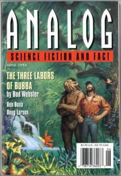 Astounding Stories 802 - The Three Labors Of Bubba - June 1996 - Tropical - Tree - Water Fall