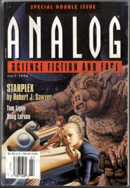 Astounding Stories 803 - Double Issue - July 1996 - Starplex - Sawyer - Furry Creature
