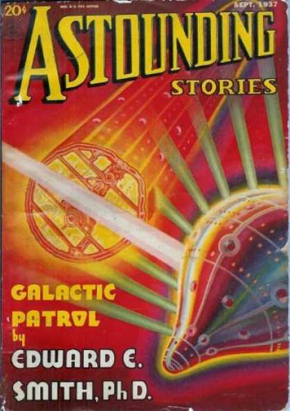 Astounding Stories 82 - September 1937 - Galactic Patrol - Smith Phd - Psychodelic Colors - Beams