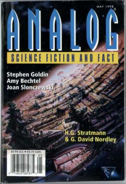 Astounding Stories 824 - May 1998 - Planet Surface - Space - City - Space Craft
