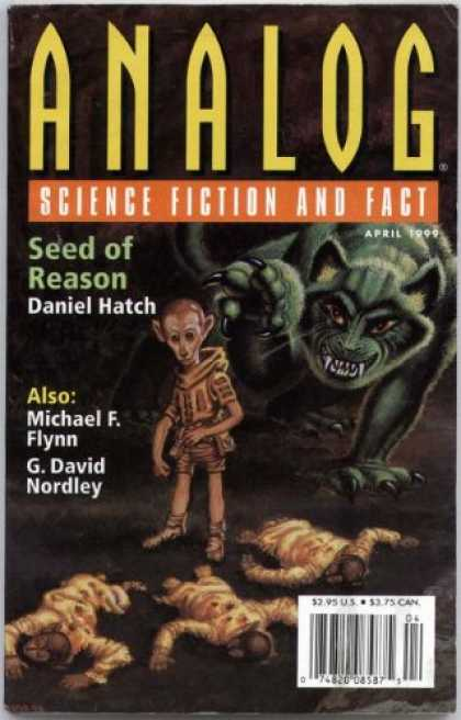 Astounding Stories 834 - Seed Of Reason - April 1999 - Humanoids - Black Cat - Claw