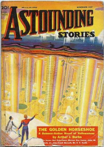 Astounding Stories 84 - November 1937 - The Golden Horseshoe - Arthur J Burks - Utopia - City