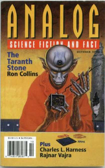 Astounding Stories 850 - The Taranth Stone - Ron Collins - October 2000 - Charles L Harness - Rajnar Vajra