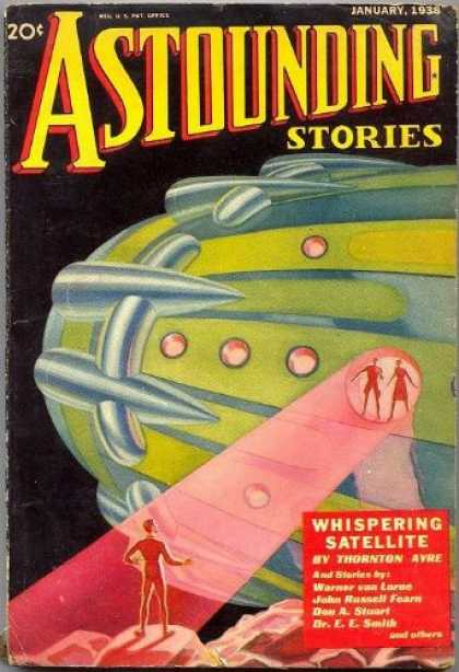 Astounding Stories 86 - Whispering Satelite - January 1938 - Planet - Space - Humans