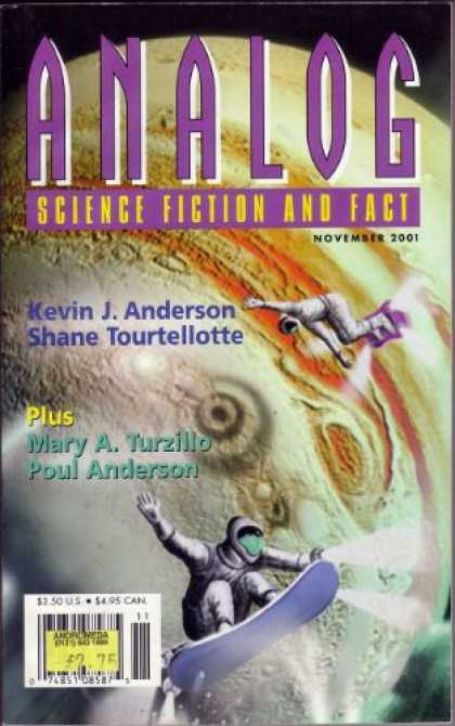Astounding Stories 862 - November 2001 - Kevin Anderson - Planet Surface - Poul Anderson - Purple Lettering