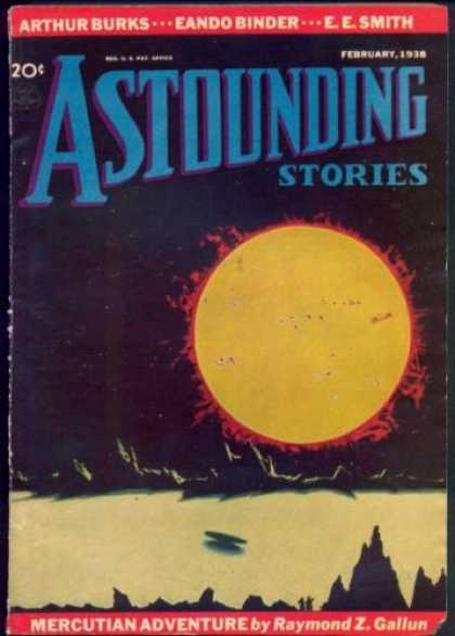 Astounding Stories 87 - Sun - Space - Febuary 1938 - Mercutian Adventure - Planet