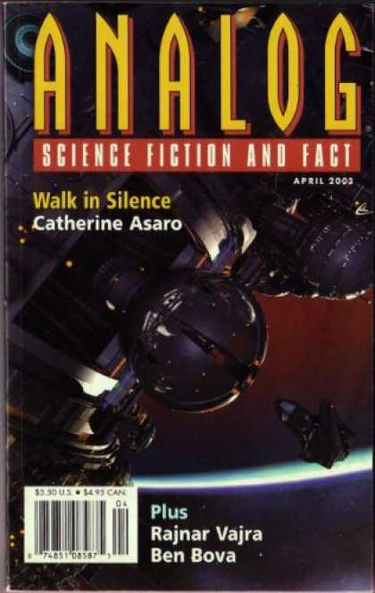 Astounding Stories 878 - April 2003 - Walk In Silence - Space Craft - Space - Planet