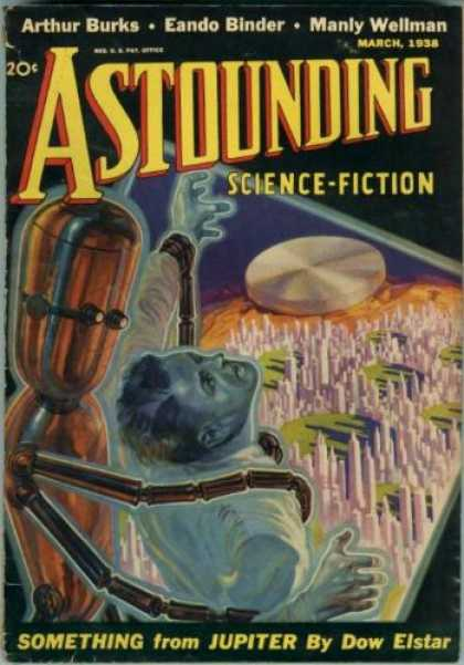 Astounding Stories 88 - March 1938 - Arthur Burks - Eando Binder - Jupiter - Alien