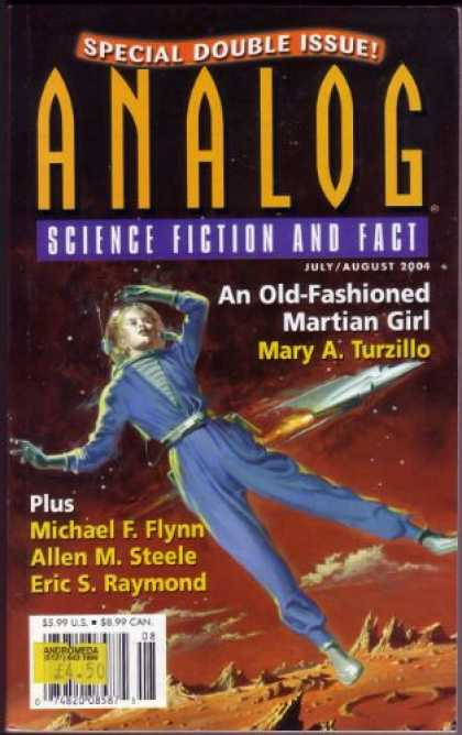 Astounding Stories 891 - An Old Fashioned Martian Girl - Julyaugust 2004 - Planet - Shuttle - Space Girl