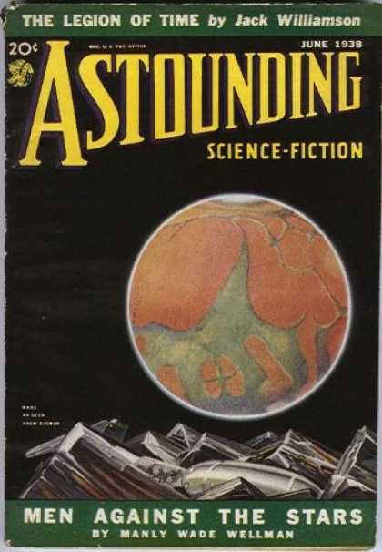 Astounding Stories 91 - June 1938 - Men Against The Stars - Space - Planet - Metal