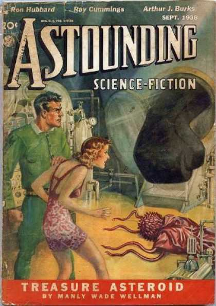 Astounding Stories 94 - September 1938 - Treasure Asteroid - Fist - Humans - Creature